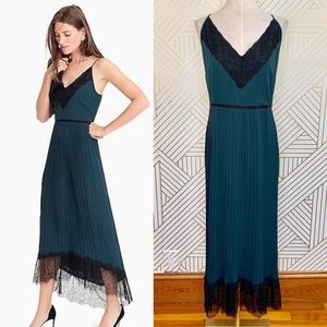 J. Crew Collection Spaghetti Strap Pleated Dress